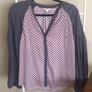 Boden Pink and Blue Printed Blouse